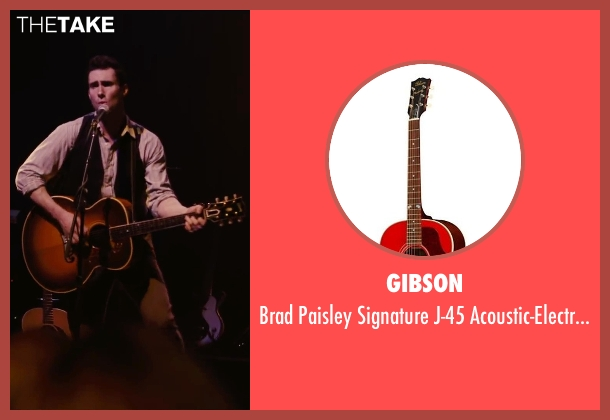 Gibson guitar from Begin Again seen with Adam Levine (Dave)