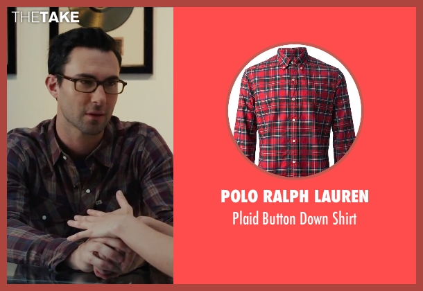 Polo Ralph Lauren red shirt from Begin Again seen with Adam Levine (Dave)