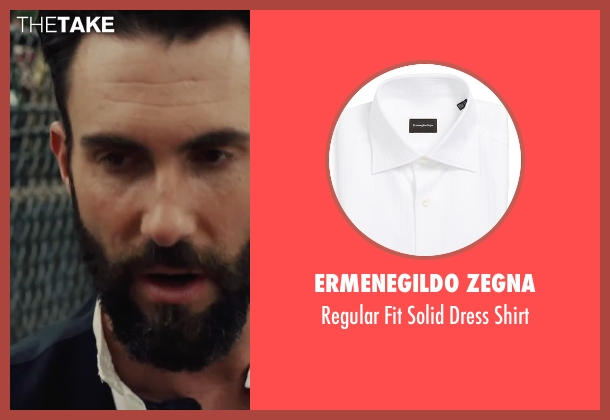 Ermenegildo Zegna white shirt from Begin Again seen with Adam Levine (Dave)