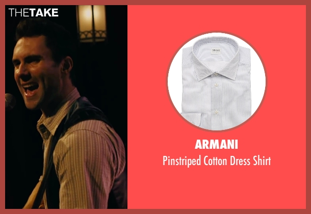 Armani white shirt from Begin Again seen with Adam Levine (Dave)