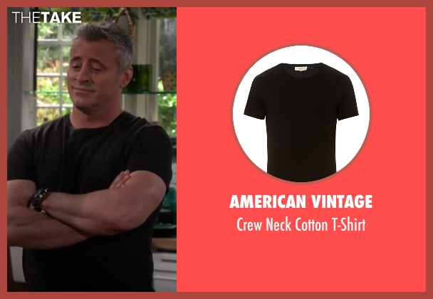 American Vintage black t-shirt from Man With A Plan seen with Adam (Matt LeBlanc)