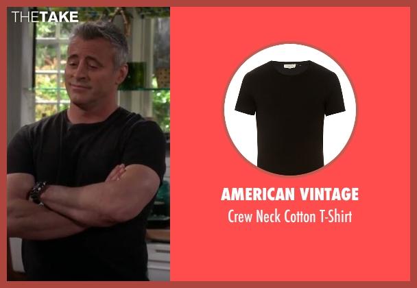 American Vintage  black t-shirt from Man With A Plan seen with Adam (Matt LeBlanc)
