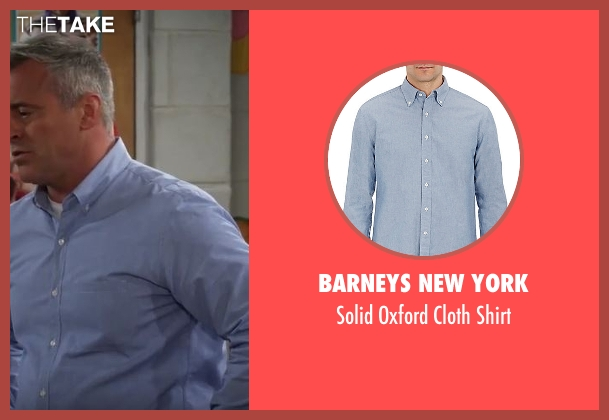 Barneys New York blue shirt from Man With A Plan seen with Adam (Matt LeBlanc)