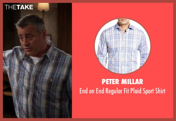 Peter Millar blue shirt from Man With A Plan seen with Adam (Matt LeBlanc)