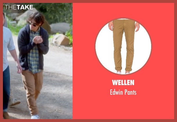 Wellen beige pants from Joshy seen with Adam Pally  (Ari)