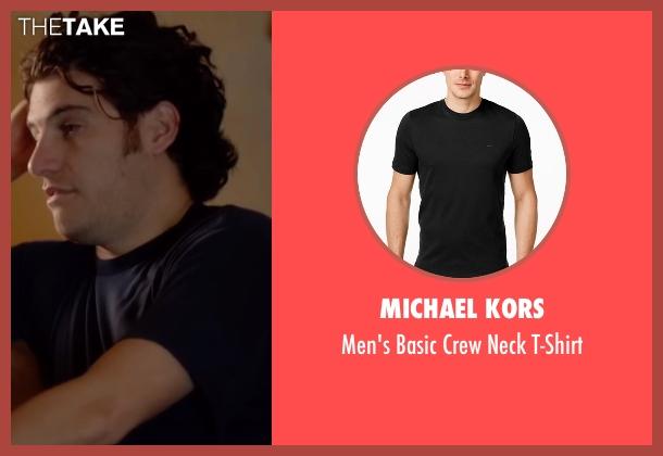 Michael Kors black t-shirt from Joshy seen with Adam Pally  (Ari)