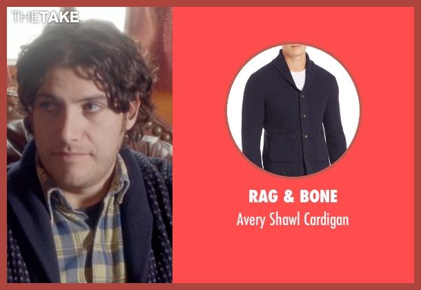 Rag & Bone blue cardigan from Joshy seen with Adam Pally  (Ari)