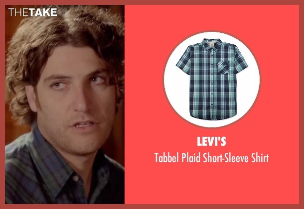 Levi's blue shirt from Joshy seen with Adam Pally  (Ari)