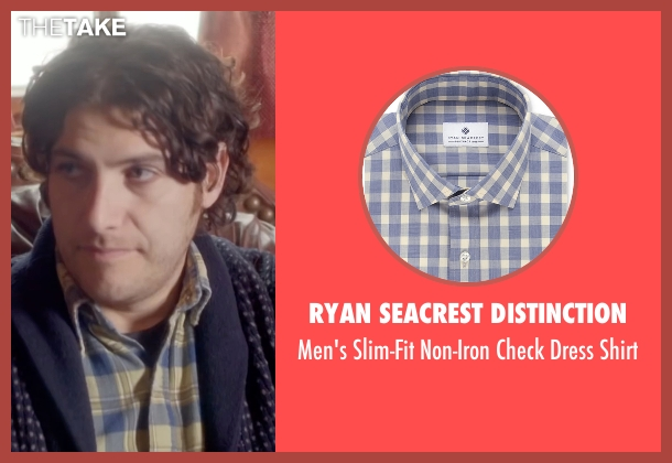 Ryan Seacrest Distinction blue shirt from Joshy seen with Adam Pally  (Ari)