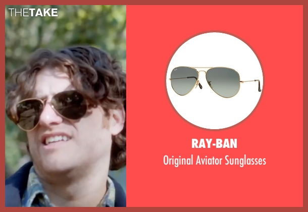 Ray-Ban gold sunglasses from Joshy seen with Adam Pally  (Ari)