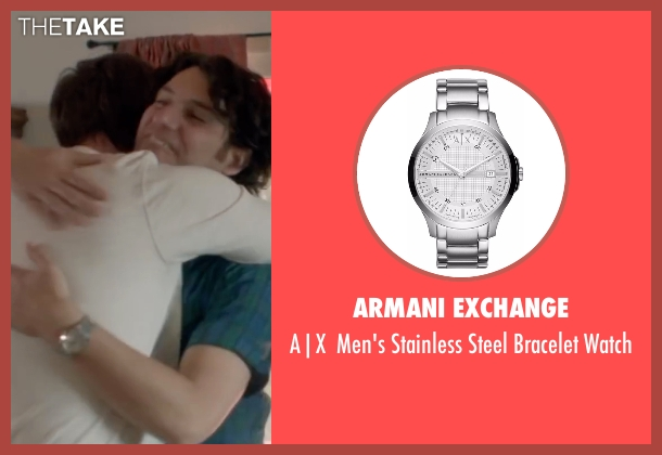 Armani Exchange silver watch from Joshy seen with Adam Pally  (Ari)
