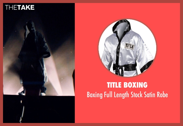 Title Boxing white robe from Magic Mike XXL seen with Adam Rodriguez (Tito)