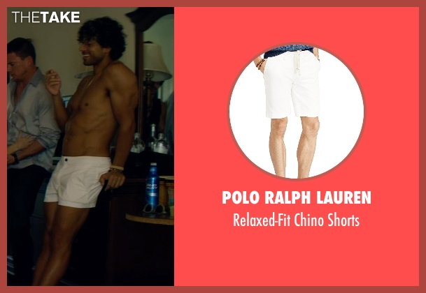 Polo Ralph Lauren white shorts from Magic Mike XXL seen with Adam Rodriguez (Tito)