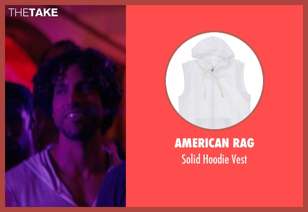 American Rag white vest from Magic Mike XXL seen with Adam Rodriguez (Tito)