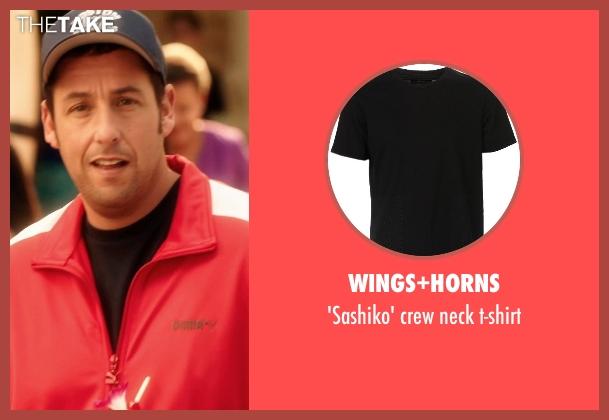 WINGS+HORNS black t-shirt from Blended seen with Adam Sandler (Jim Friedman)