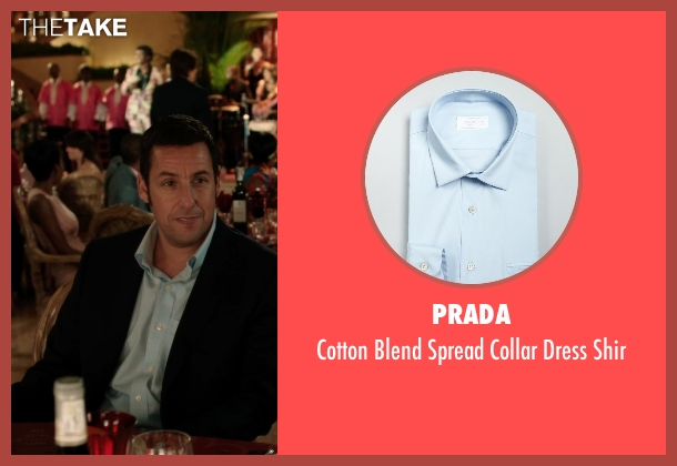 PRADA blue shir from Blended seen with Adam Sandler (Jim Friedman)