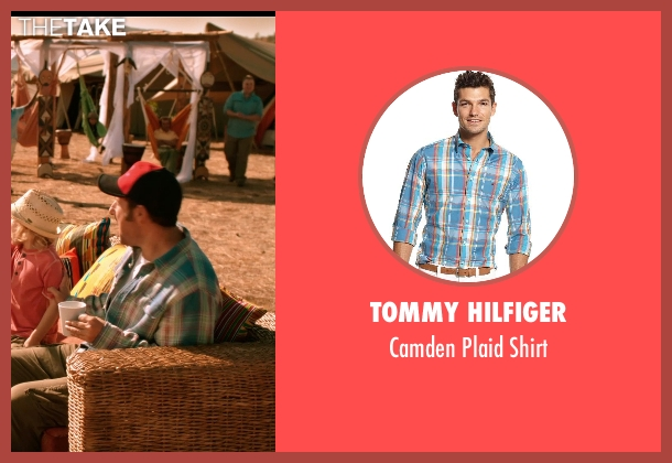 Tommy Hilfiger blue shirt from Blended seen with Adam Sandler (Jim Friedman)