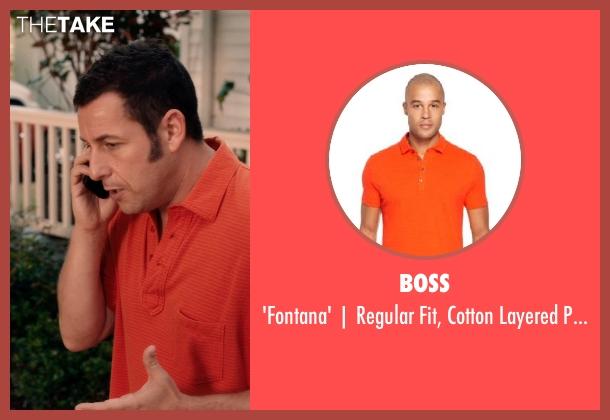 BOSS orange shirt from Blended seen with Adam Sandler (Jim Friedman)