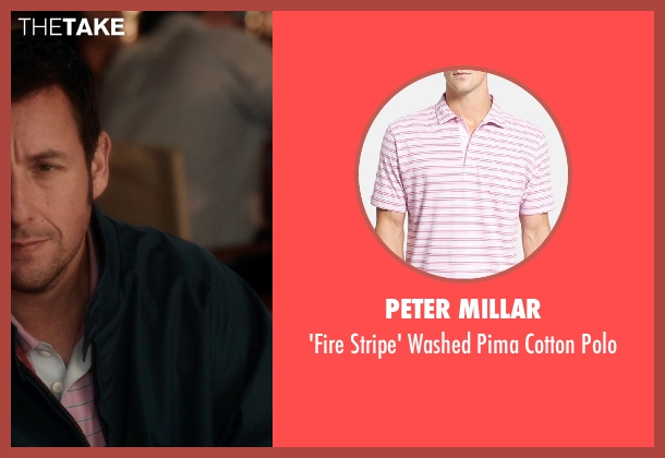 Peter Millar pink polo from Blended seen with Adam Sandler (Jim Friedman)