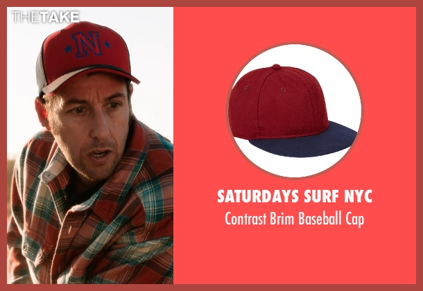 SATURDAYS SURF NYC red cap from Blended seen with Adam Sandler (Jim Friedman)