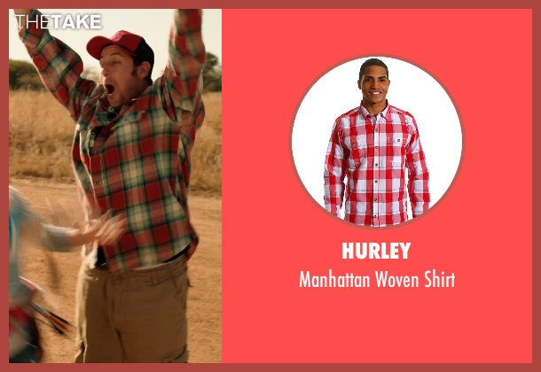 Hurley red shirt from Blended seen with Adam Sandler (Jim Friedman)