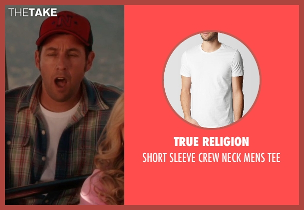 TRUE RELIGION white tee from Blended seen with Adam Sandler (Jim Friedman)