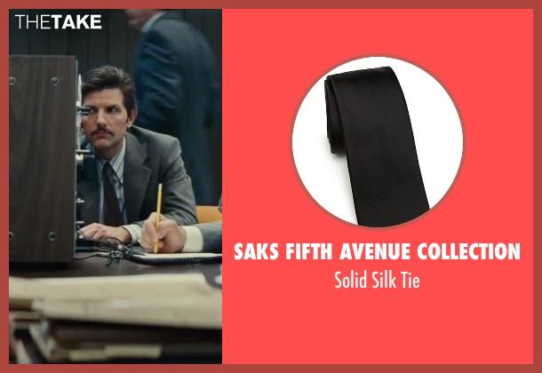Saks Fifth Avenue Collection black tie from Black Mass seen with Adam Scott (Robert Fitzpatrick)