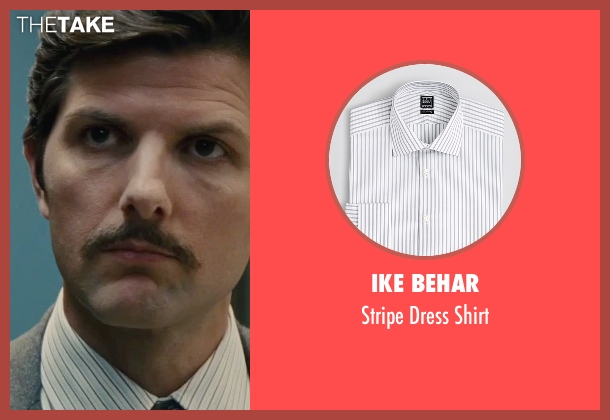 Ike Behar white shirt from Black Mass seen with Adam Scott (Robert Fitzpatrick)