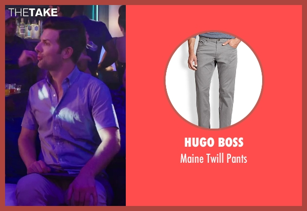 Hugo Boss gray pants from Hot Tub Time Machine 2 seen with No Actor (Adam)