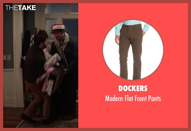 Dockers brown pants from Krampus seen with Adam Scott (Unknown Character)