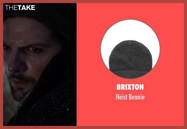 Brixton gray beanie from Krampus seen with Adam Scott (Unknown Character)