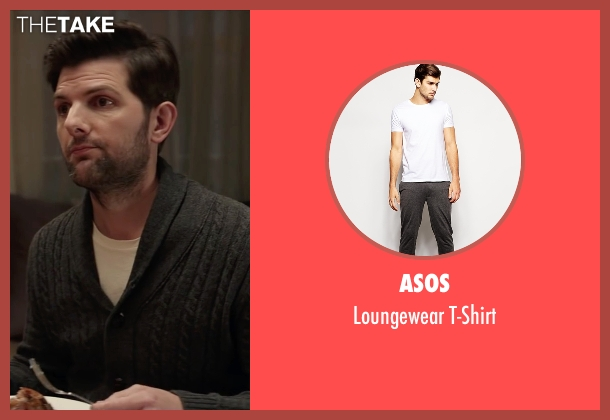 Asos white t-shirt from Krampus seen with Adam Scott (Unknown Character)