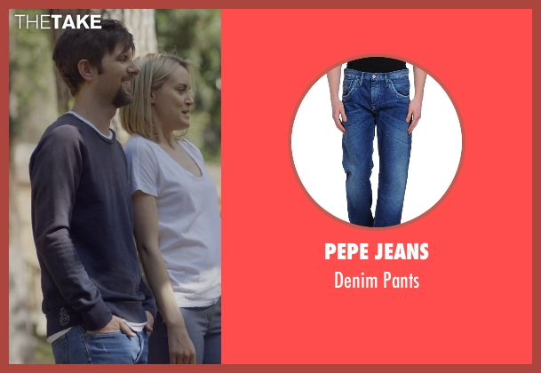 Pepe Jeans blue pants from The Overnight seen with Adam Scott (Alex)