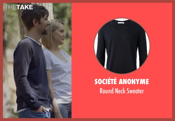 Société Anonyme blue sweater from The Overnight seen with Adam Scott (Alex)