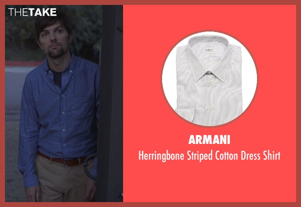 Armani gray shirt from The Overnight seen with Adam Scott (Alex)
