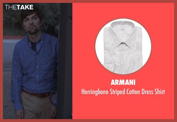 Armani gray shirt from The Overnight seen with Adam Scott (Alex)