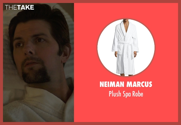 Neiman Marcus white robe from The Overnight seen with Adam Scott (Alex)