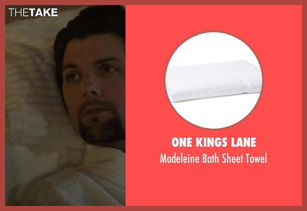 One Kings Lane white towel from The Overnight seen with Adam Scott (Alex)