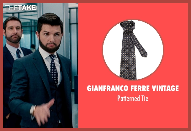 Gianfranco Ferre Vintage black tie from The Secret Life of Walter Mitty seen with Adam Scott (Ted Hendricks)