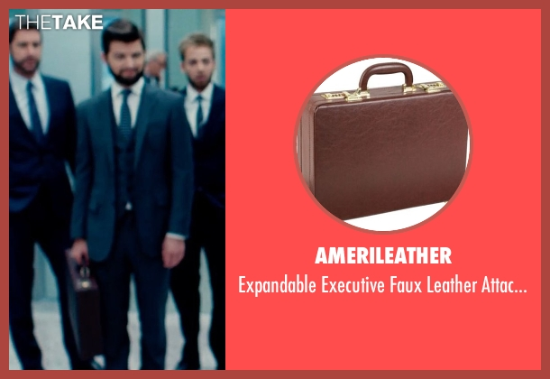 AmeriLeather brown case from The Secret Life of Walter Mitty seen with Adam Scott (Ted Hendricks)