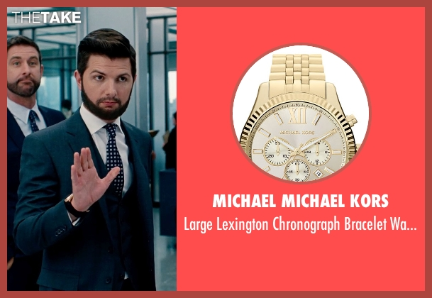 MICHAEL Michael Kors gold watch from The Secret Life of Walter Mitty seen with Adam Scott (Ted Hendricks)