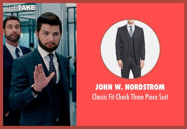 John W. Nordstrom gray suit from The Secret Life of Walter Mitty seen with Adam Scott (Ted Hendricks)