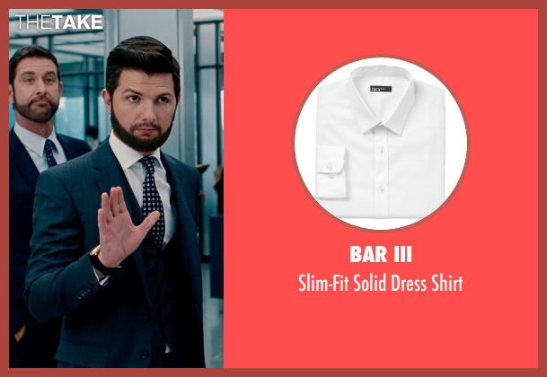 Bar III white shirt from The Secret Life of Walter Mitty seen with Adam Scott (Ted Hendricks)