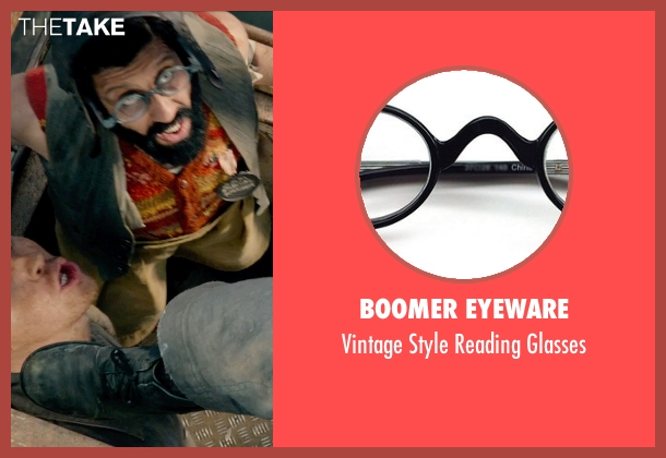 Boomer Eyeware glasses from Pan seen with Adeel Akhtar (Mr. Smee)