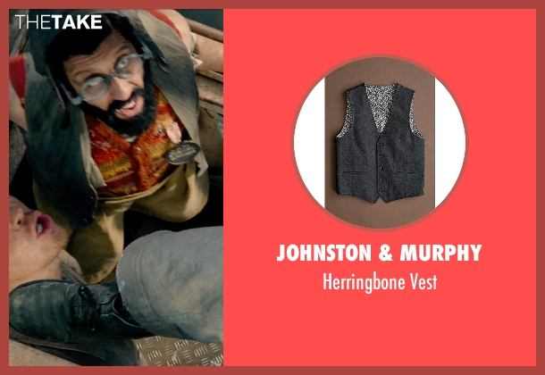 Johnston & Murphy gray vest from Pan seen with Adeel Akhtar (Mr. Smee)