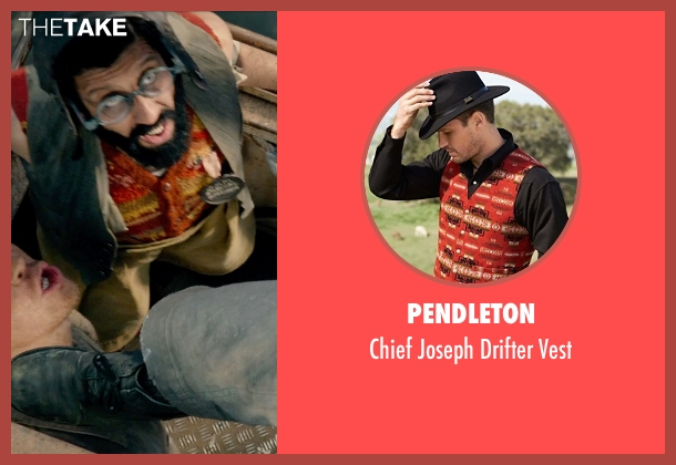 Pendleton red vest from Pan seen with Adeel Akhtar (Mr. Smee)