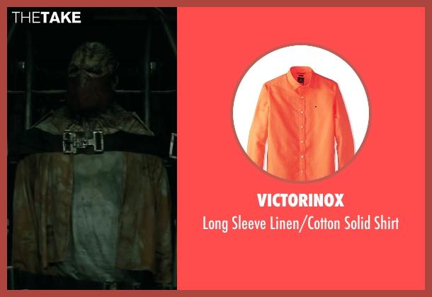 Victorinox orange shirt from Suicide Squad seen with Adewale Akinnuoye-Agbaje (Waylon Jones / Killer Croc)