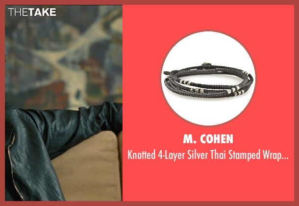 M. Cohen black bracelet from Entourage seen with Adrian Grenier (Vincent Chase)