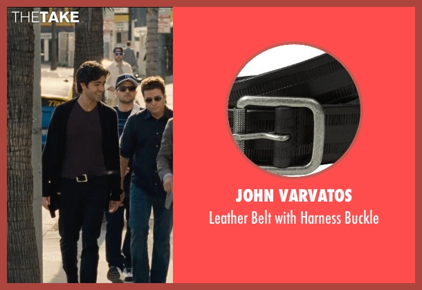 John Varvatos black buckle from Entourage seen with Adrian Grenier (Vincent Chase)