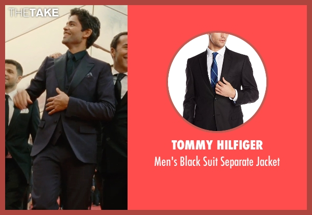Tommy Hilfiger black jacket from Entourage seen with Adrian Grenier (Vincent Chase)